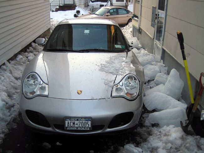Porshe ice crash