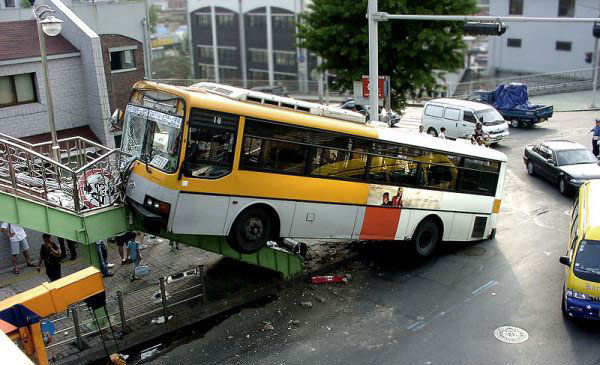 city bus crash accident