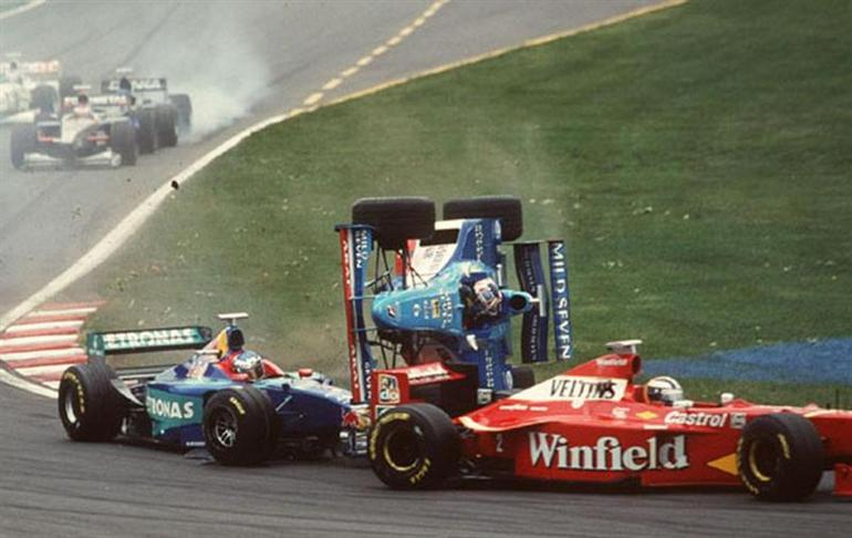 Formula one crash accident