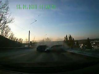 Замес на дороге под Иркутском
