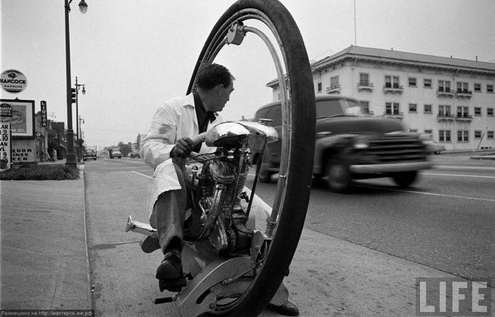 моноцикл, уницикл, мотоцикл, история модели