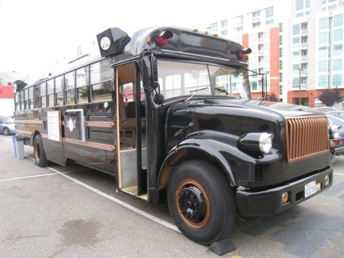 ресторан на колесах, школьный автобус, автобус