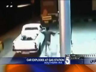 Взрыв газового баллона в авто
