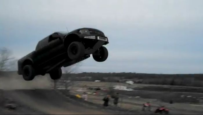 ford f-150 svt raptor, прыжок на авто