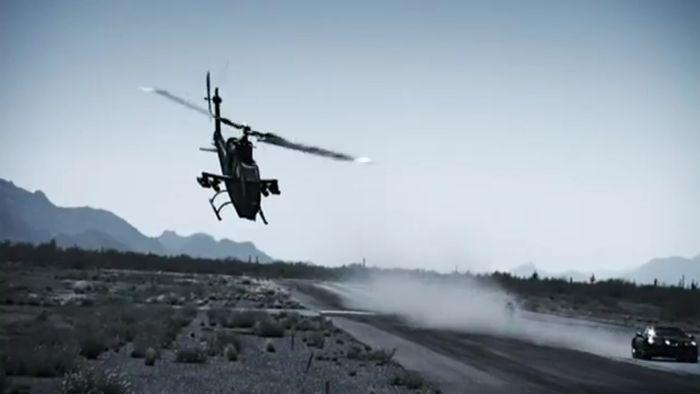 chevrolet corvette, top gear, вертолет, крушение вертолета