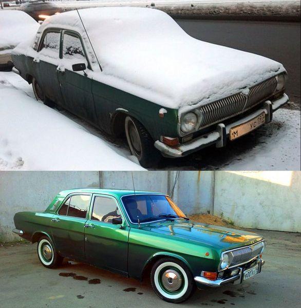 до и после, восстановление авто,