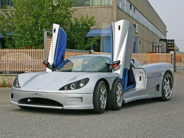 шестиколесный авто, covini c6w