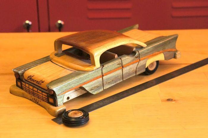своими руками, модель авто,  chevrolet, машина из дерева
