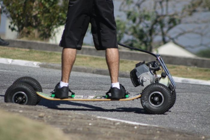 скейт, мотоскейт, доска с мотором