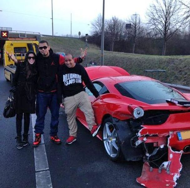 ferrari 458 italia, машина знаменитости. разбил суперкар, afrojack