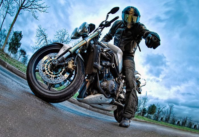 hdr фотографии, мотоцикл,