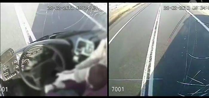 автобус, женщина за рулем, спас автобус