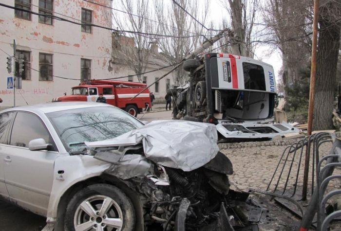 скорая помощь, украина, авария со скорой
