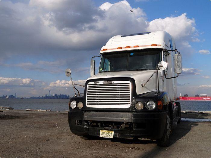 грузовик, фура, американский грузовик, тягач