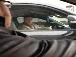 Хамство на дороге в Москве