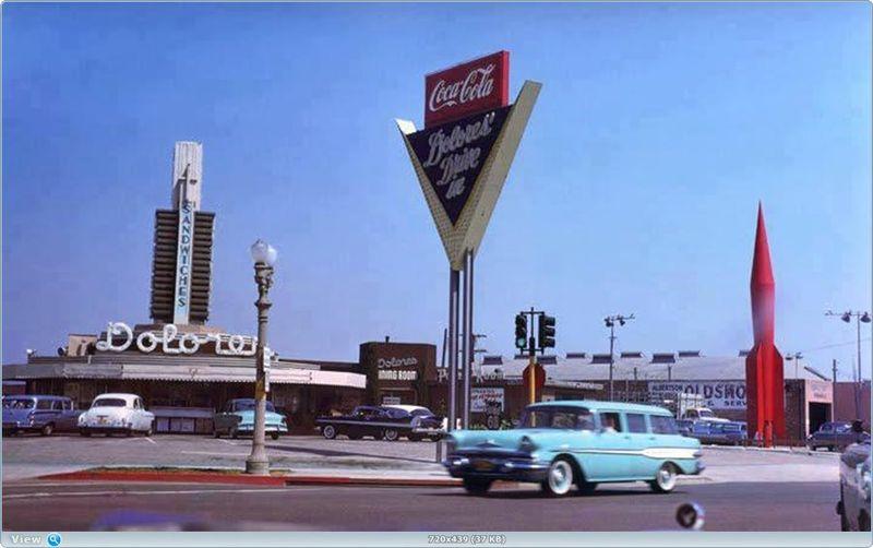 Автомобильная Америка 40-Х - 70-Х (48 фото)
