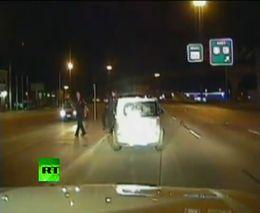 Пьяный водитель протаранил полицейскую машину