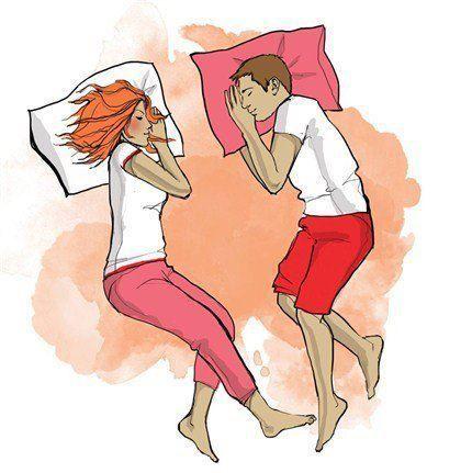 Позы сна влюбленных и их значение | 431x430