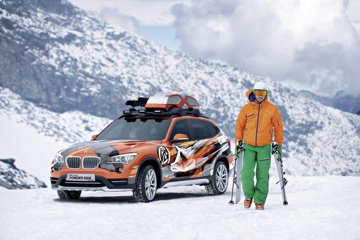 BMW X1 в спецкомплектации для горнолыжников (24 фото)