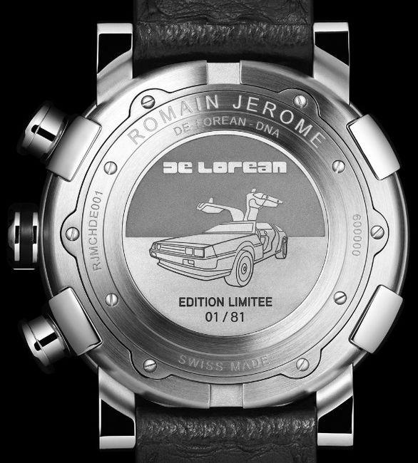 Эксклюзивные часы из автомобиля DeLorean (4 фото)
