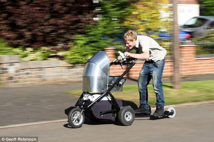 Детская коляска с прогулки с ветерком (7 фото+видео)