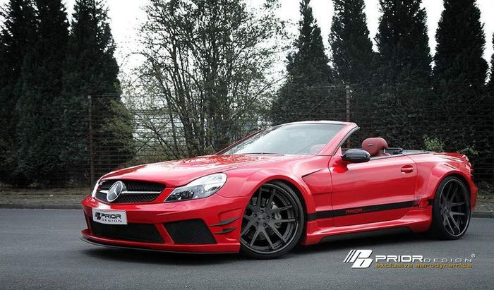 Mercedes-Benz SL R230 в тюнинге от Prior Design (8 фото)