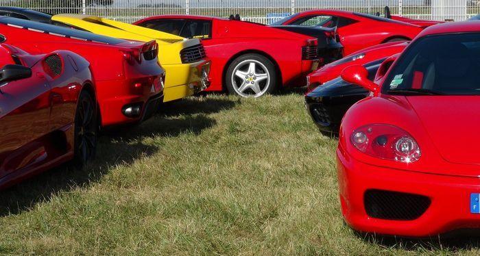 Французский клуб владельцев Ferrari организовал встречу (12 фото+2 видео)