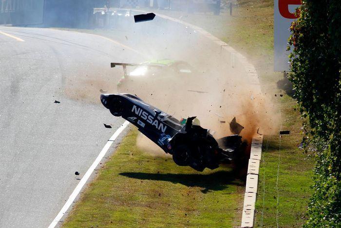 Прототип Nissan DeltaWing попал в аварию в США (4 фото+видео)