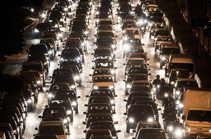 Где самые длинные пробки? (3 фото)