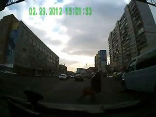 Обоюдный испуг водителя и пешехода