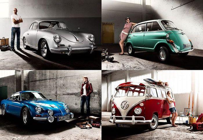 Фотографии для календаря ретро-автомобилей (13 фото)