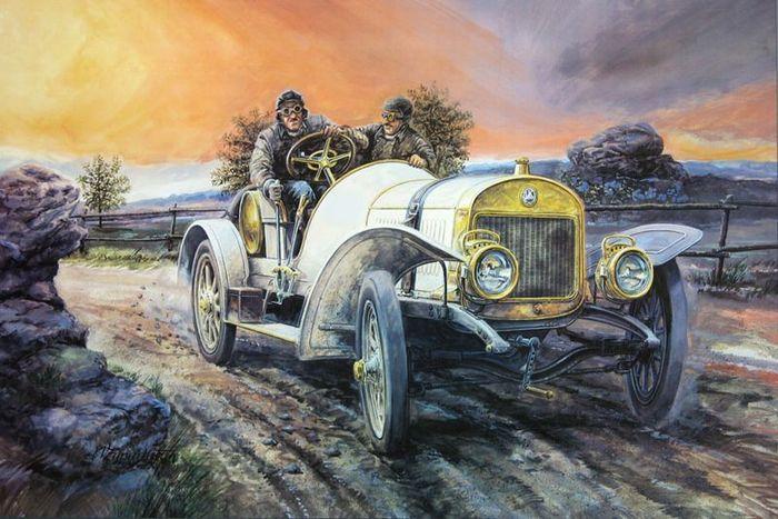 Работы чешского авто художника Вацлава Западлика (54 фото)
