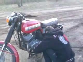 Как сломать себя и мотоцикл