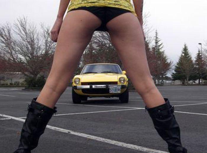 найдено на ebay,   продажа авто, datsun 280z, девушка на фото