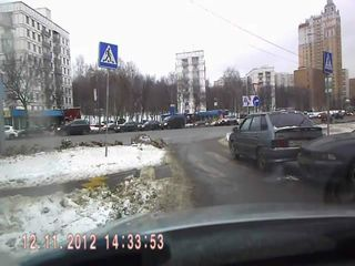 Автоподстава на перекрестке