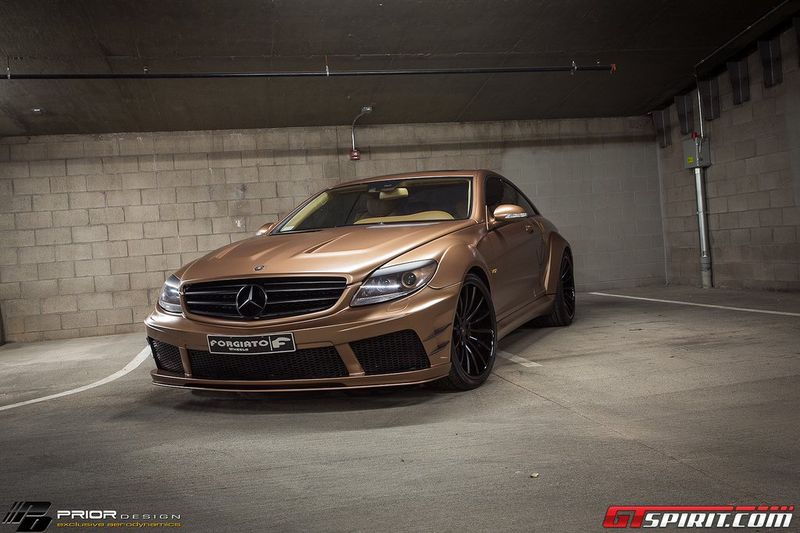 gold mis, mercedes-benz cl65 amg