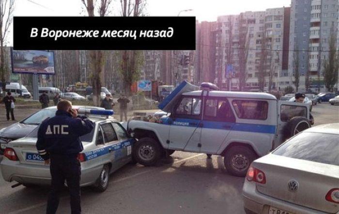 воронеж, полиция, уаз, дтп с полицией