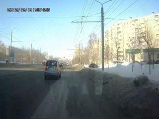 Daewoo Matiz+женщина за рулем=жесть