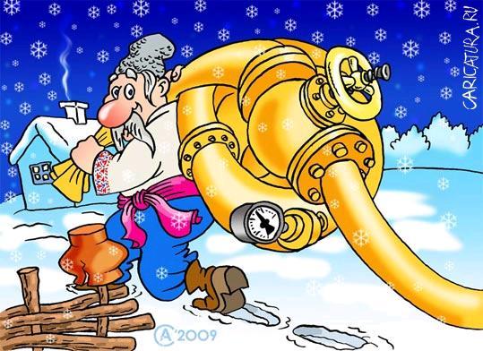Актуально - карикатуры на тему газовой войны (40 штук)