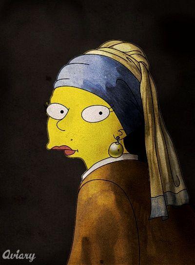 Симпсоны на Великих полотнах (6 фото)