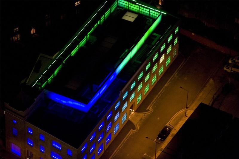 Ночной Лондон, вид сверху (24 фото)