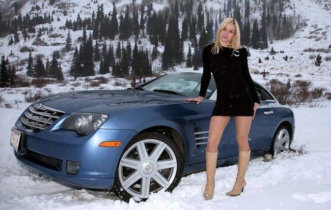 Красотки на зимних дорогах (36 фото)