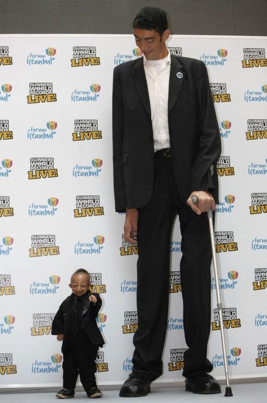 ყველაზე მაღალი და ყველაზე დაბალი ადამიანები