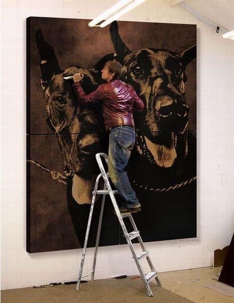 Марк Эванс и его кожаные рисунки (12 фото)