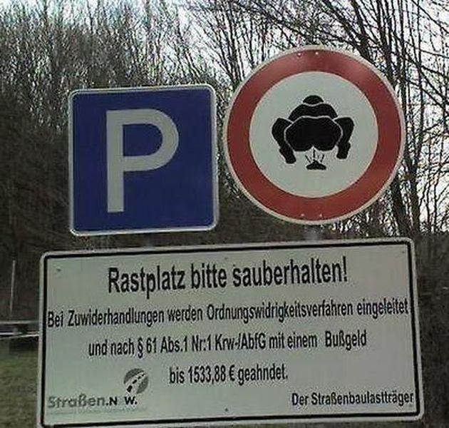 Запрещающие знаки с юмором (12 фото)