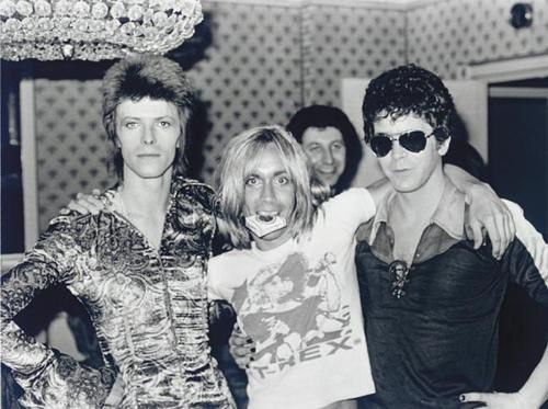 Lou Reed, Iggy Pop, David Bowie