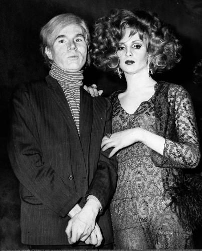 Andy Warhol and Candy Darling (she was born James Lawrence Slattery)