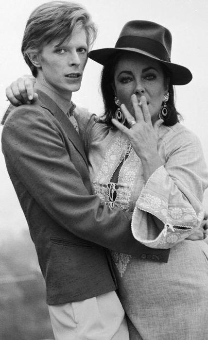 David Bowie and Elizabeth Taylor
