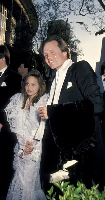 Angelina Jolie and her father, 1986