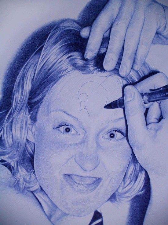 Картины шариковой ручкой от Juan Francisco Casas (82 фото)
